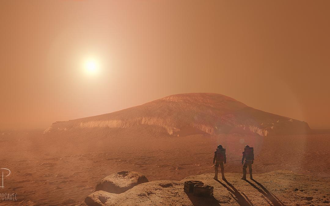 Mars Landing Art