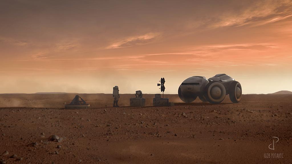 Igor Posavec Art Mars desert
