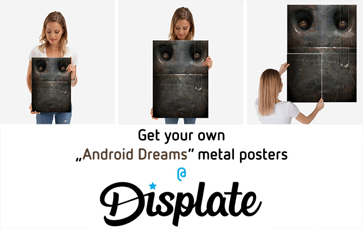 "Get ""Android Dreams"" prints on metal!"